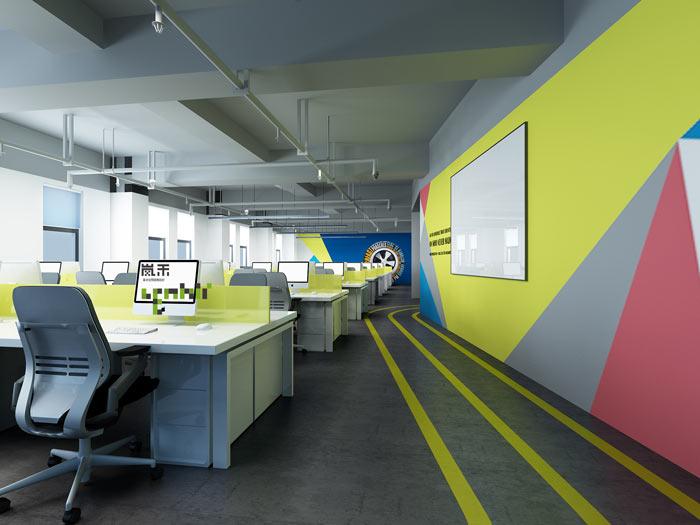 汽车超人公司办公室19楼办公区装修设计效果图