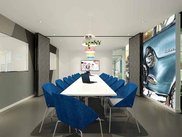 汽车超人公司办公室19楼小会议室装修设计效果图