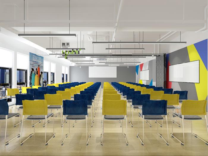 汽车超人公司办公室20楼培训室装修设计效果图