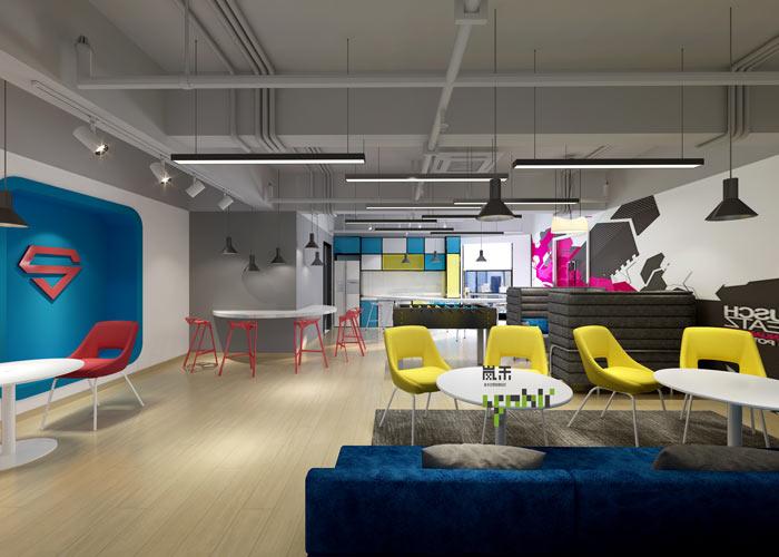 汽车超人公司办公室20楼茶水间装修设计效果图