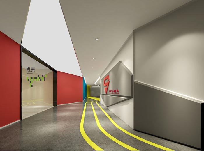 汽车超人公司办公室装修设计效果图