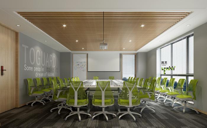 创新科技公司办公室会议室装修设计效果图
