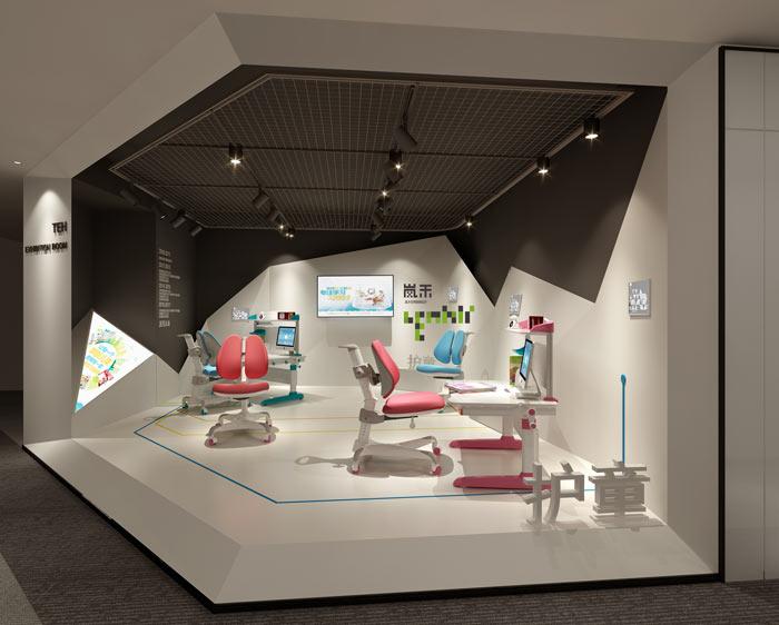 创新科技公司办公室展厅装修设计效果图