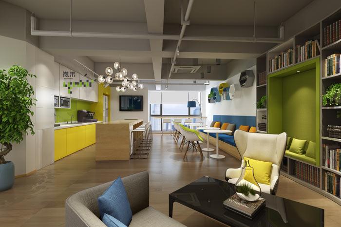 创新科技公司办公室茶水间装修设计效果图