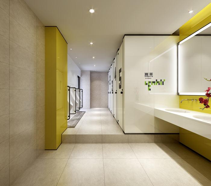 创新科技公司办公室卫生间装修设计效果图