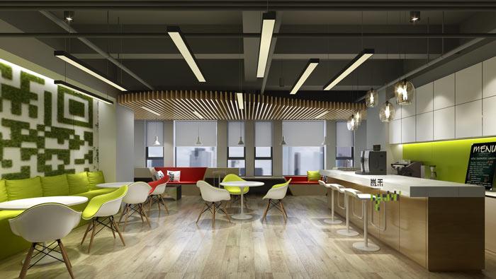 腾讯大浙网办公室茶水间装修设计案例效果图
