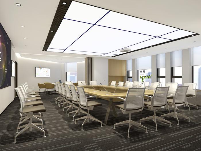 腾讯大浙网办公室会议室装修设计案例效果图