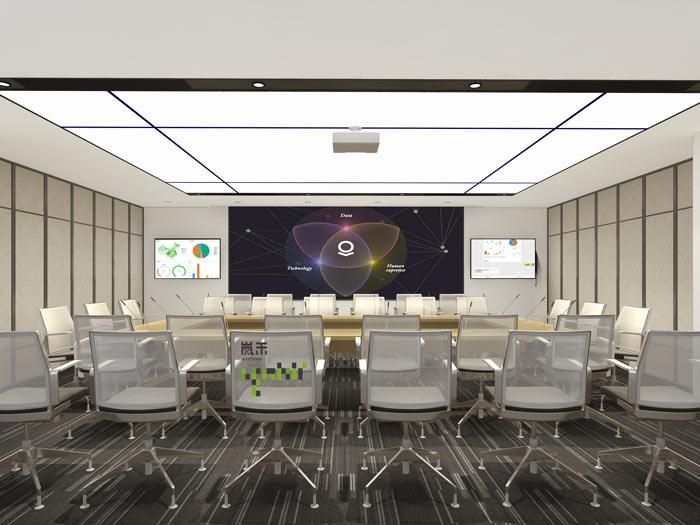 腾讯大浙网办公室大会议室装修设计案例效果图