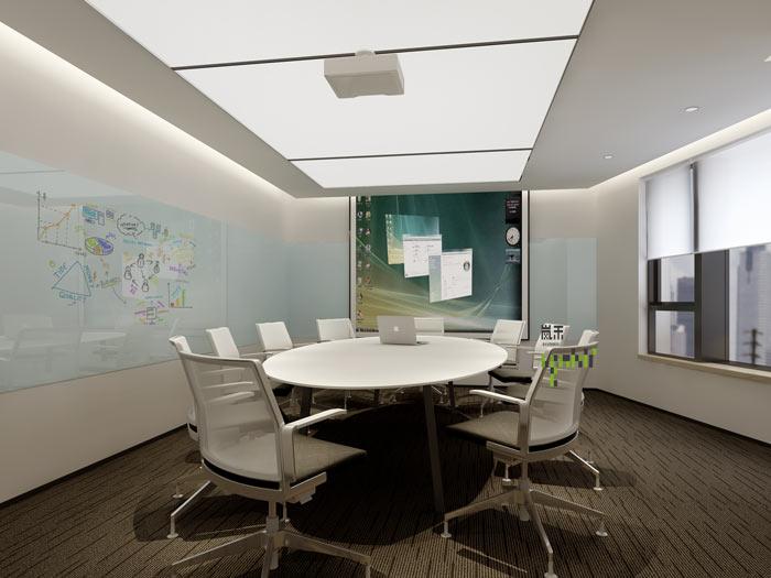 腾讯大浙网办公室小会议室装修设计案例效果图
