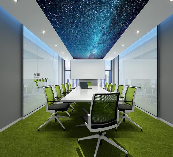 信息科技公司办公室会议室装修设计效果图