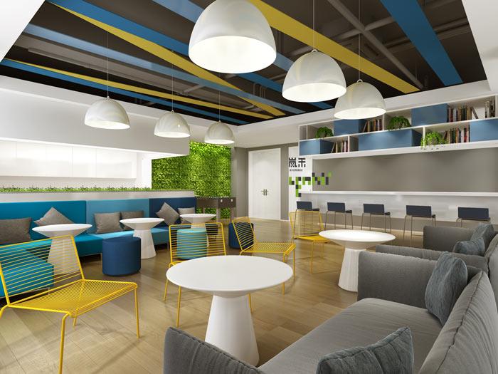 信息科技公司办公室茶水间装修设计效果图