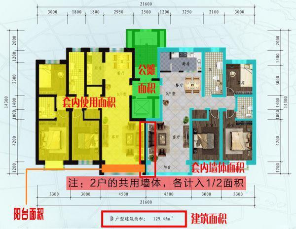 建筑面积效果图