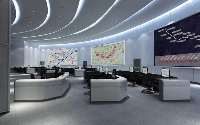 地铁指挥中心办公室装修设计效果图