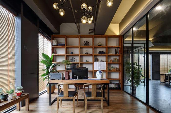 进出口贸易公司办公室装修设计效果图