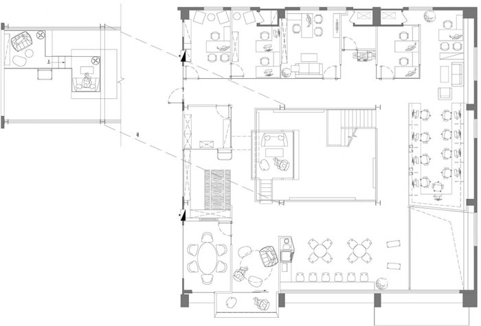 岚禾资讯    本次为厂房办公室设计装修效果图,办公室设计面积1000