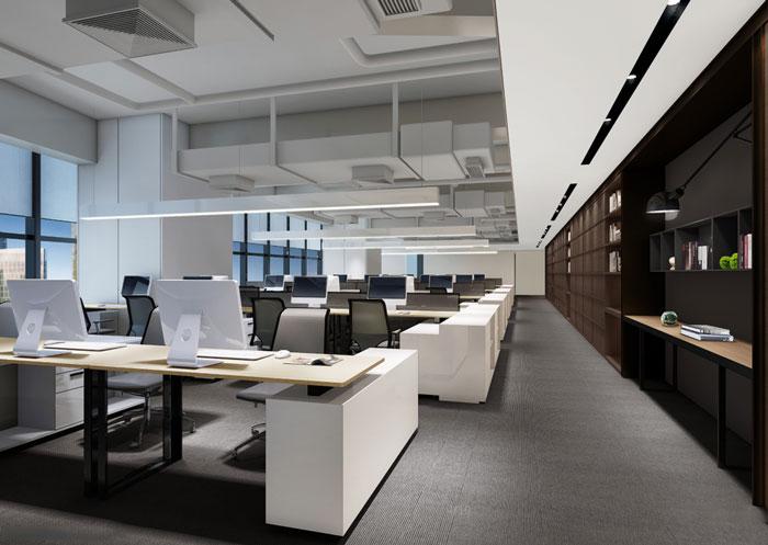 房地产公司办公室办公区装修设计效果图