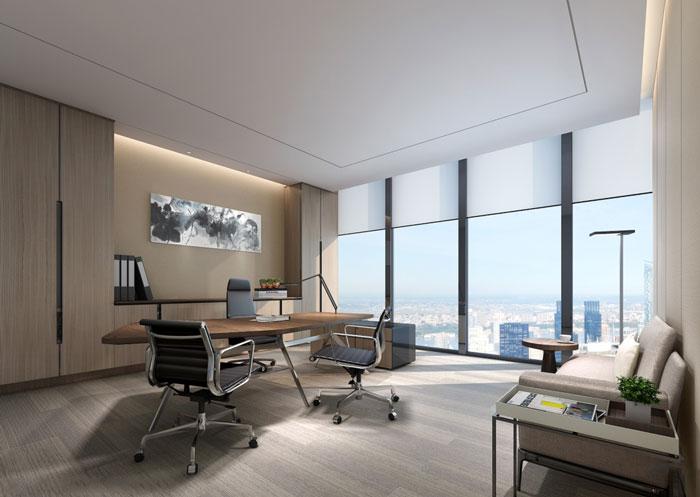 房地产公司总经理办公室装修设计效果图