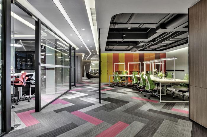 金融科技办公室办公区装修设计效果图