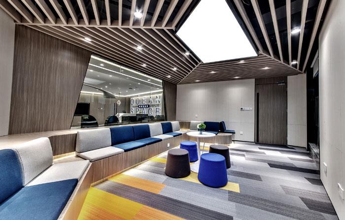 金融科技办公室休息区装修设计效果图