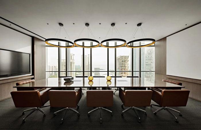 投资公司办公室会议室装修设计效果图