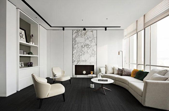 投资公司办公室交流室装修设计效果图