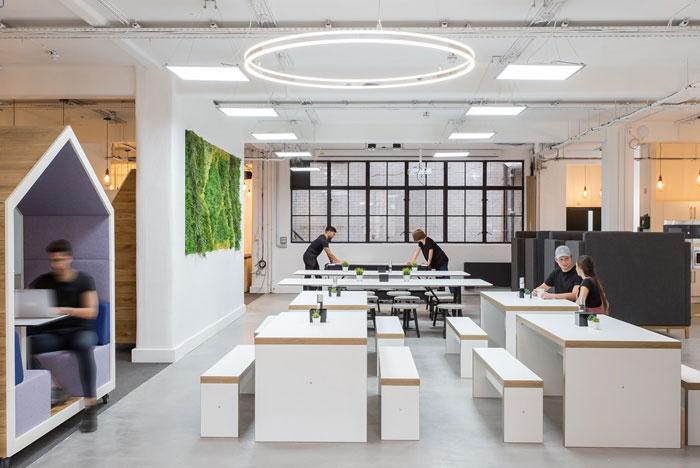 仓库办公室办公区装修设计效果图