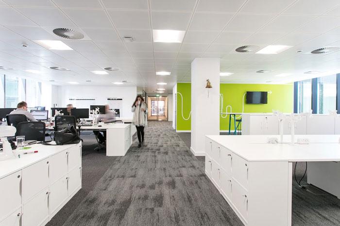 600平方办公室办公区装修设计效果图