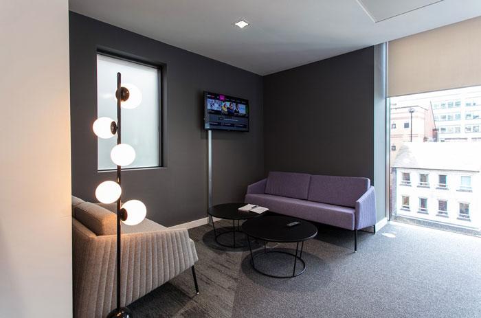 600平方办公室交流室装修设计效果图