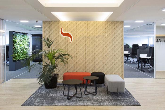 750平方办公室前厅装修设计效果图