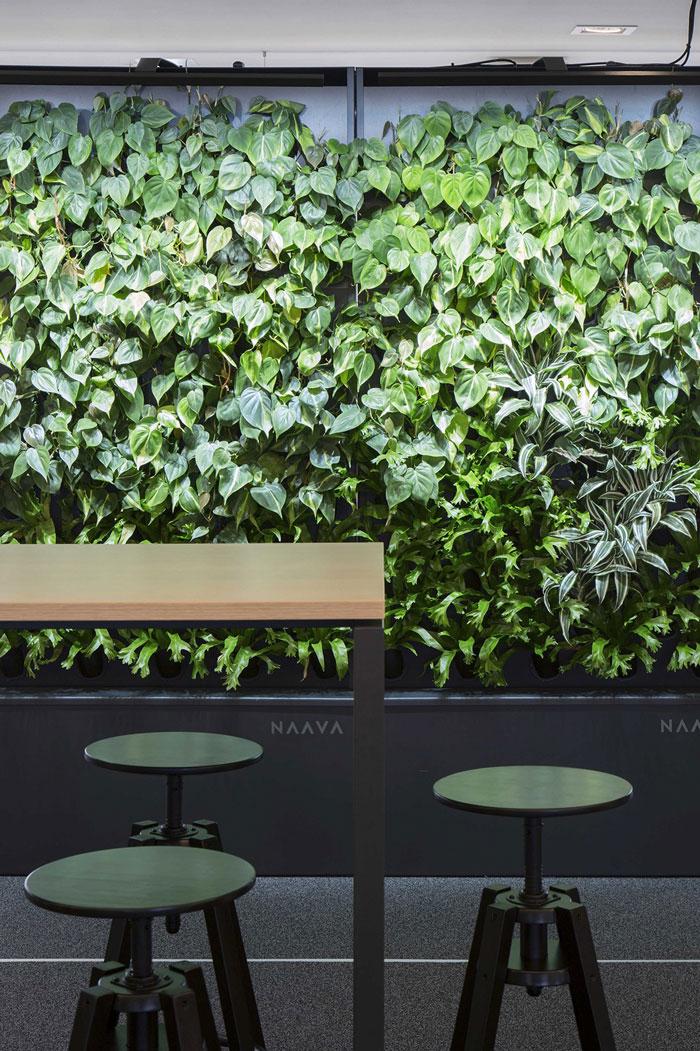 750平方办公室背景墙装修设计效果图