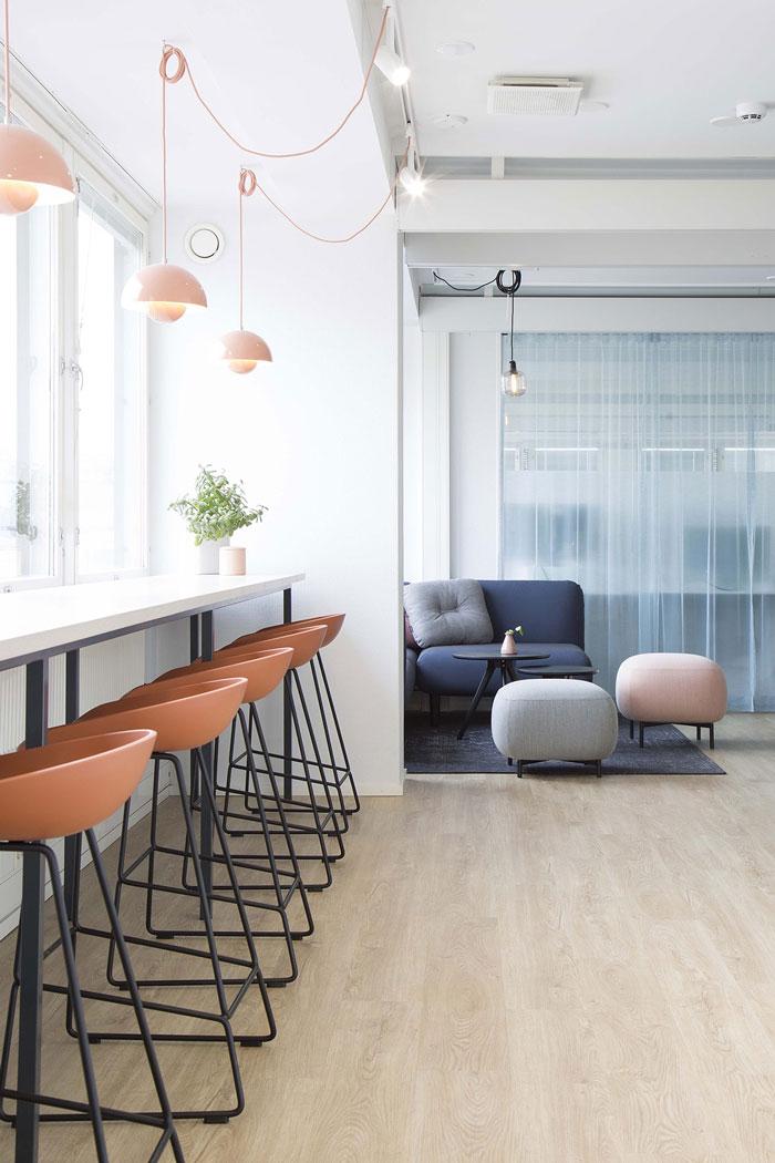 750平方办公室吧台装修设计效果图