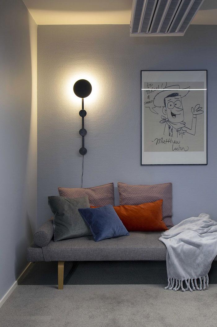 750平方办公室休息区装修设计效果图