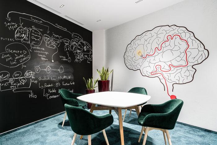 3600平方办公室洽谈室装修设计效果图
