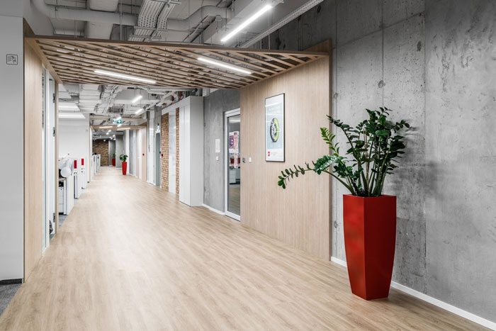 3600平方办公室过道装修设计效果图