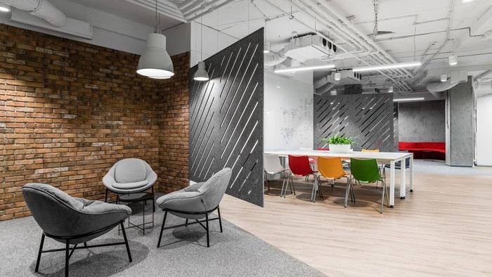 3600平方办公室交流区装修设计效果图
