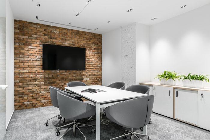 3600平方办公室小型会议室装修设计效果图