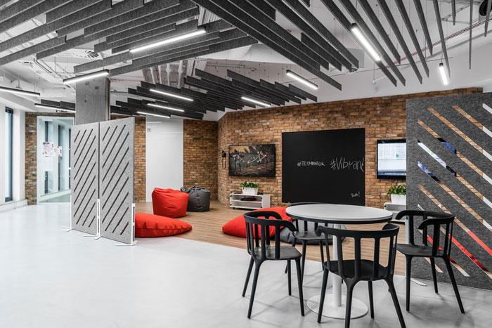3600平方办公室休息区装修设计效果图