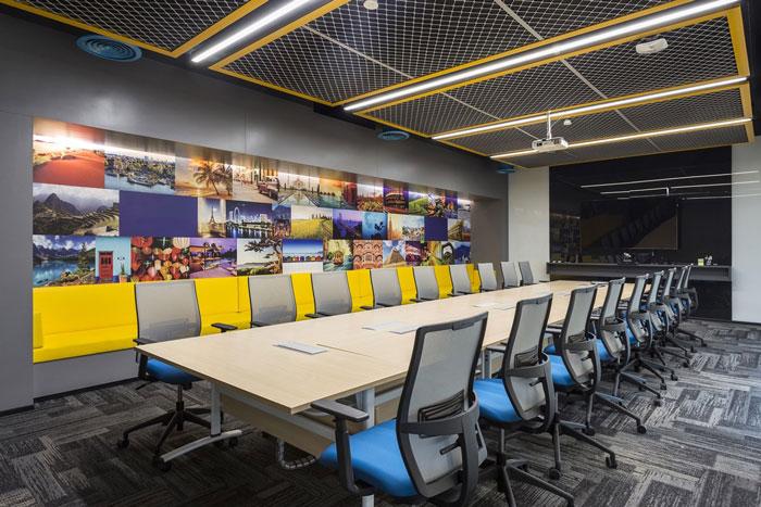 880平方办公室会议室装修设计效果图