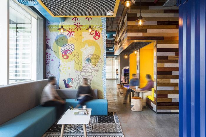 880平方办公室洽谈区域装修设计效果图