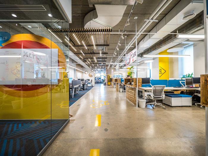 软件开发公司办公室装修设计实景图