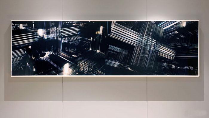 金融控股集团办公室墙体壁画装修设计效果图
