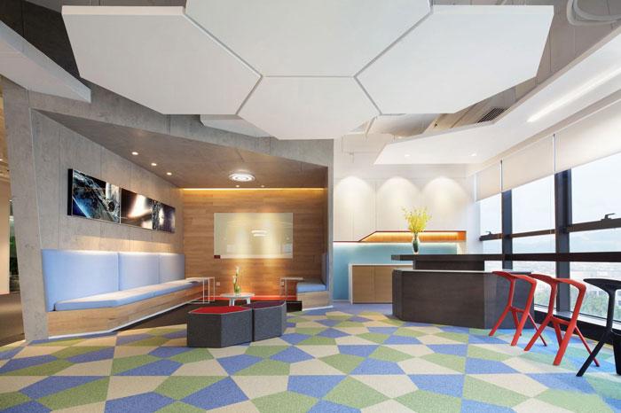 金融控股集团办公室休息区装修设计效果图