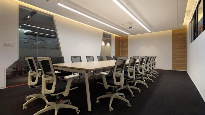 金融控股集团办公室会议室装修设计效果图