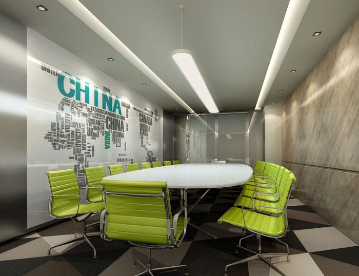 集团办公空间会议室装修设计效果图