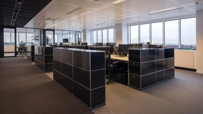 P2P金融公司办公室办公区装修设计效果图