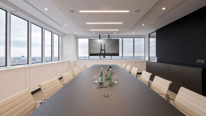 P2P金融公司办公室会议室装修设计效果图