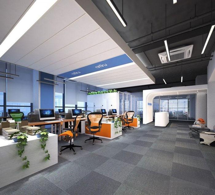 能源集团公司办公室办公区装修设计效果图