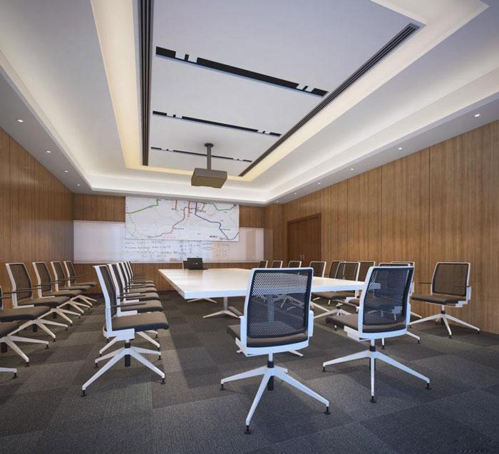 能源集团公司办公室会议室装修设计效果图