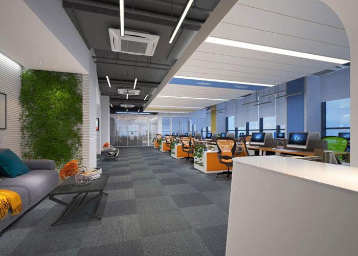 能源集团公司办公室装修设计效果图