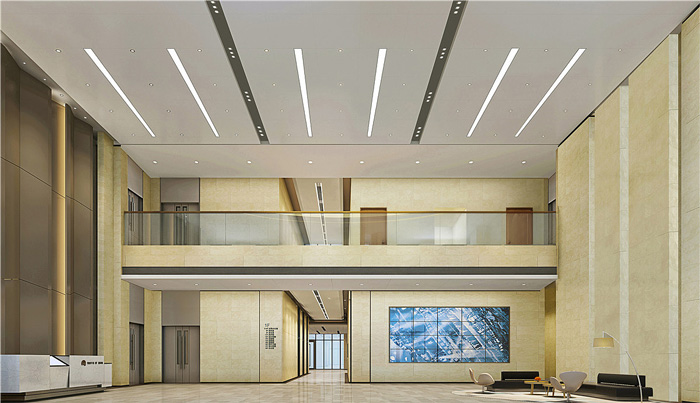 写字楼办公室前厅装修设计效果图